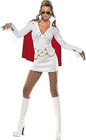 Smiffys - Disfraz de Elvis para mujer, talla UK 8-10 ...
