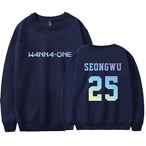 Rond shirt 2018 Ctooo One Bleu Coréenne À Même Wanna En Sweat Col Plus Homme Nouveau 8 Velours Combinaison OpxpwvBq