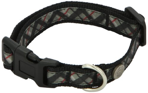 American Kennel Club Adjustable Dog Collar, Small, Black