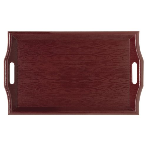 """GET Enterprises 25"""" x 16"""" Hardwood Room Service Tray-Mahogany (RST-2516-M), 25 Inches x 16 Inches,"""