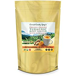 Organic Turmeric Root Powder with Curcumin 2 lb Premium Grade Raw Spice for Health, Beauty, Cooking and Supplement