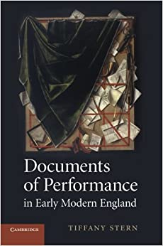 Book Documents of Performance in Early Modern England