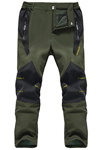 MAGCOMSEN Men's Outdoor Water Resistant Durable Softshell Ski Hiking Trousers Winter Warm Fleece Trousers with Mulit…