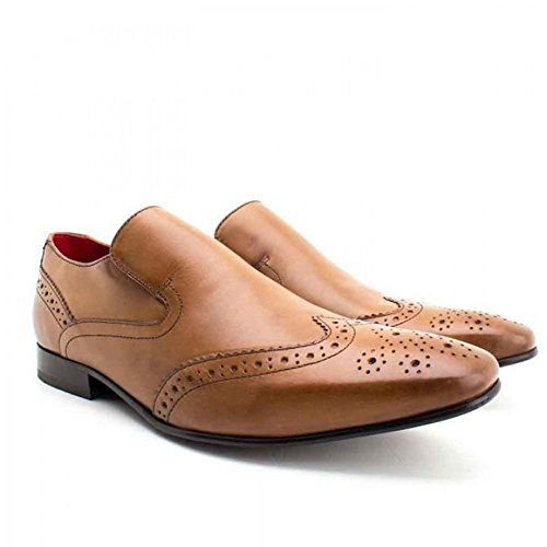 Brogue Slip Base Shoes Brown 12 On Tan London UK Leather 6 Mens Pocket qIwSYIg
