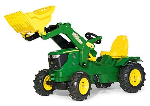 Rolly Toys - 61 110 2 - Tracteur À Pédales - Rollyfarmtrac John Deere 6210 R + Pelle Avant - Pneus Souples