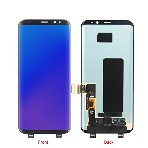 HJSDtech LCD Display Screen Touch Screen Digitizer Assembly Replacement for Samsung Galaxy S8 by HJSDtech
