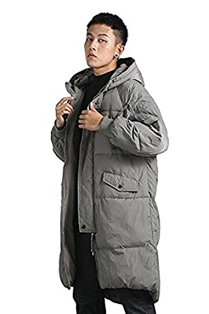 YOU.U Men Water/Stain Resistant Anorak Winter Long Quilted Coat at ... : mens long quilted jacket - Adamdwight.com