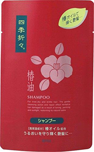 刈る加入満足させる熊野油脂 四季折々 椿油シャンプー 詰替用 450ml