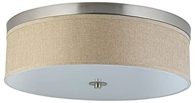 Linea di Liara Occhio Two or Three-Light Ceiling Fixture, Flushmount with a Fabric Shade