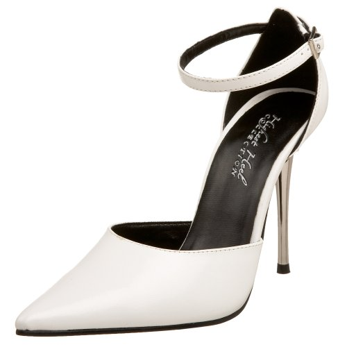 The Highest Heel Women's Slick d'Orsay Pump,White-WKDF,9 M US ()