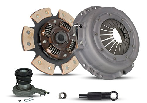 Clutch Kit With Slave Works With Ford Ranger Bronco II Aerostar Base Xl Xlt 1985-1987 2.0L L4 GAS SOHC 2.9L V6 GAS OHV Naturally Aspirated 2.3L L4 DIESEL OHV Turbocharged (6-Puck Clutch Disc Stage 2)