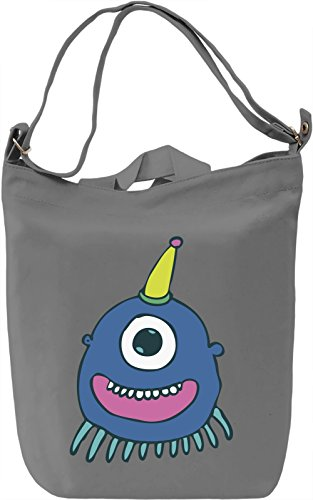 Monster Borsa Giornaliera Canvas Canvas Day Bag| 100% Premium Cotton Canvas| DTG Printing|