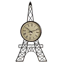 SouvNear 190803088739 Eiffel Tower Wall Clock in Iron, 36