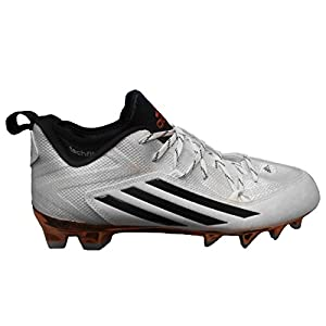 adidas Men's Special Crazyquick 2.0 ASU Pitchfork Football Cleats (10, White/Core Black/Copper Metallic)