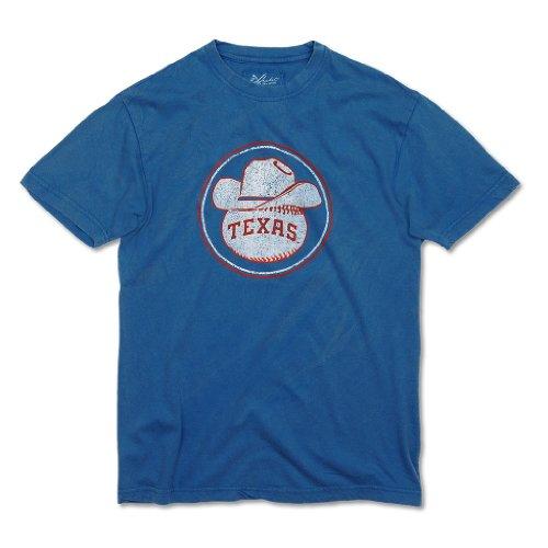 Texas Rangers Retro Cowboy Hat Baseball Logo T-Shirt by Red Jacket