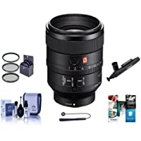 Sony FE 100mm F2.8 STF GM (G Master) OSS E-Mount NEX Camera Lens - Bundle With 72mm Filter Kit, Cleaning Kit, Lenspen Lens Cleaner, Capleash II, Software Package