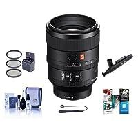 Sony FE 100mm F2.8 STF GM (G Master) OSS E-Mount NEX Camera Lens - Bundle 72mm Filter Kit, Cleaning Kit, Lenspen Lens Cleaner, Capleash II, Software Package