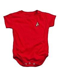 Star Trek Series Scotty Engineering Uniform Red Baby Infant Romper Snapsuit
