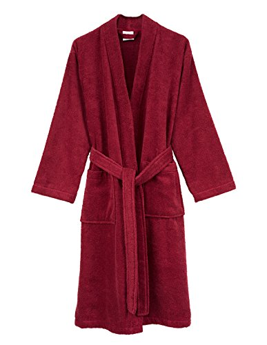 TowelSelections Men's Robe, Turkish Cotton Terry Kimono Bathrobe X-Large/XX-Large Deep Claret
