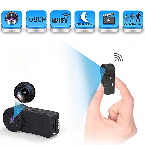 Sunggo Spy Camera Wireless Hidden, WiFi Full HD 1080P Portable Mini Nanny Cam with Night Vision and Motion Detection, Perfect Covert Small Security Camera for Indoor and -