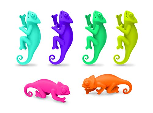 Fred SOCIAL CLIMBERS - Chameleon Wine Charms, Set of 6