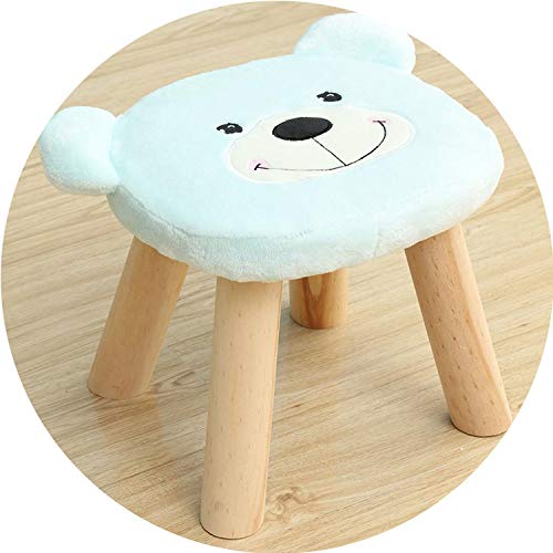 For What Reason Children Cute Animal Stool Solid Wood Fabric Adult Coffee Table Stool Short Living Room Home Sofa Bench Change Shoes Stool,Style 7