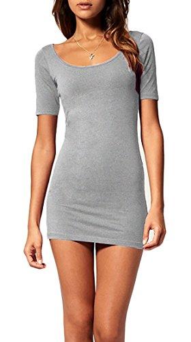 Miniabito Vestitino Vestito Donna 314 Grigio Mini Estivo Pizzo Aderente Corto Abito WqXAnR7wgY