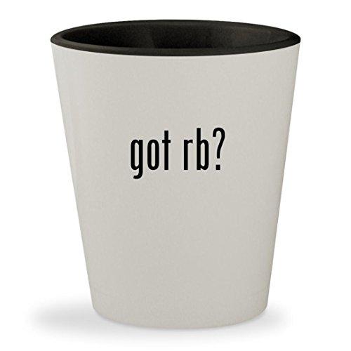 got Rb? - White Outer & Black Inner Ceramic 1.5oz Shot - Bans 3386 Ray