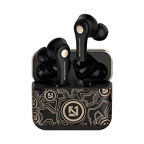 TZONOO Graffiti Wireless Earbuds Bluetooth 5.0 Earphones, Sports Headset with Charging Case,Bluetooth Earbuds with 5H Playtime, TWS Stereo in-Ear Touch Control for Running/Workout