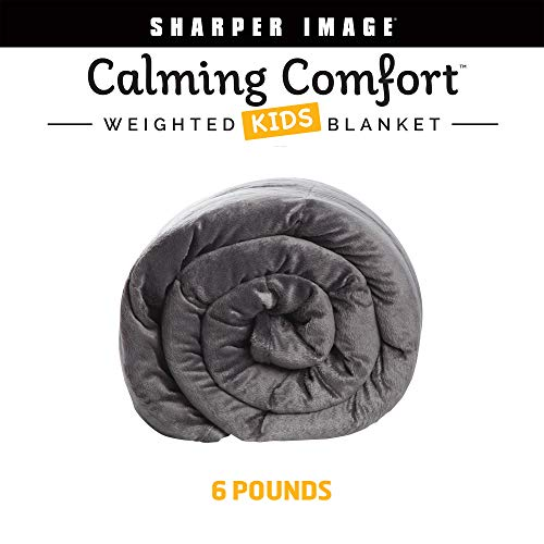 Cheap Calming Comfort Weighted Blanket by Sharper Image- A Heavy Blanket| 6 lbs 41 in x 60 in Grey Black Friday & Cyber Monday 2019