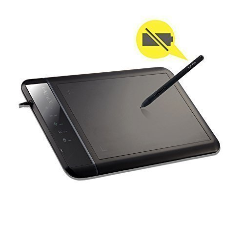 Xp Pen Usb - XP-Pen Star-02 8x5'' Digital Graphics Drawing Pen Tablet Battery-free Passive Stylus Black