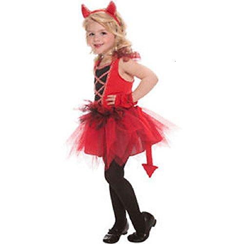 Devil Diva Costume - 3T - 4T -