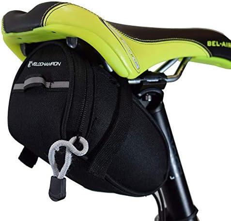 VeloChampion Speed Bolsa de sillin para Bicicleta Negra - Bike Seat Pack in Black: Amazon.es: Deportes y aire libre