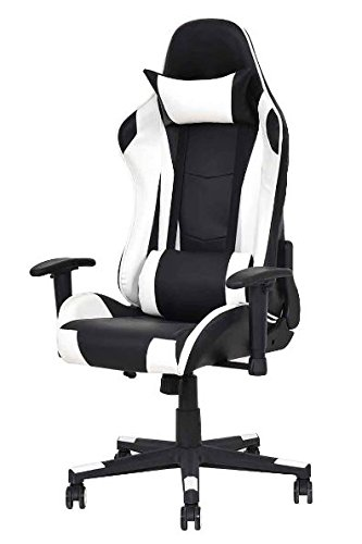 41DInPk zdL - K&A Company Chair High Back Racing Gaming Reclining Office Executive Computer Leather Pu Style Ergonomic Recliner Task Swivel Head Rest Pillow