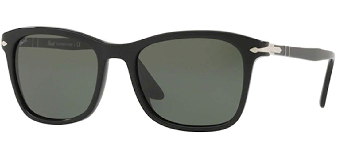 385bd7a2546 Amazon.com  Persol Mens Sunglasses Black Green Acetate - Non-Polarized -  54mm  Clothing