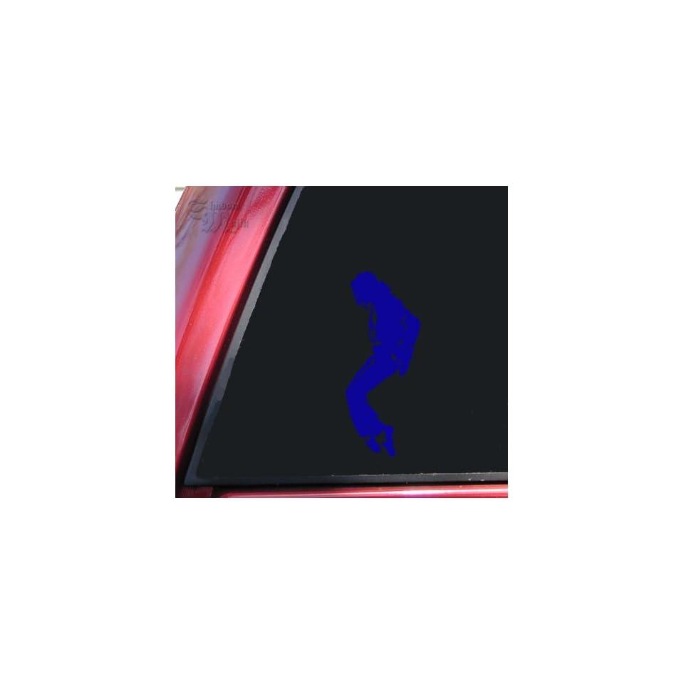 Michael Jackson Silhouette Vinyl Decal Sticker   Blue