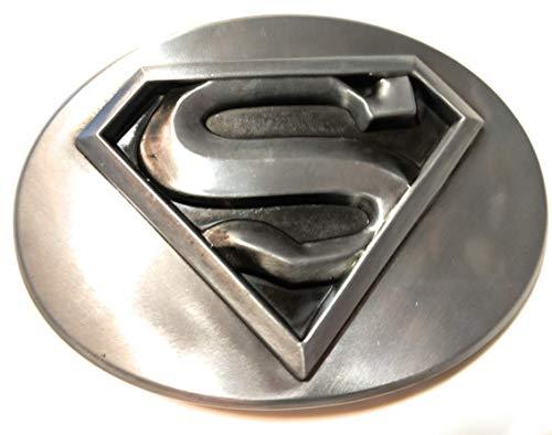 Shield Logo Belt Buckle - SUPERMAN S SHIELD Logo belt buckle Antique Silver Color Classic DC comics 4 inch SuperGifts