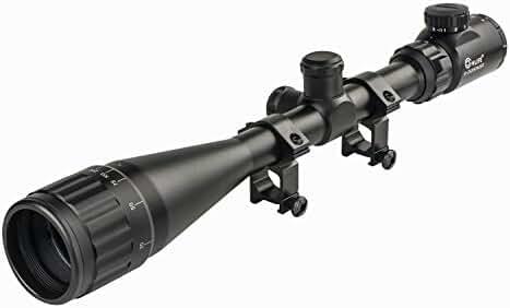 CVLIFE Tactical 6-24x50 Rifle Scope Mil-Dot IR Crosshair Gun Scopes with 20mm Free Mounts