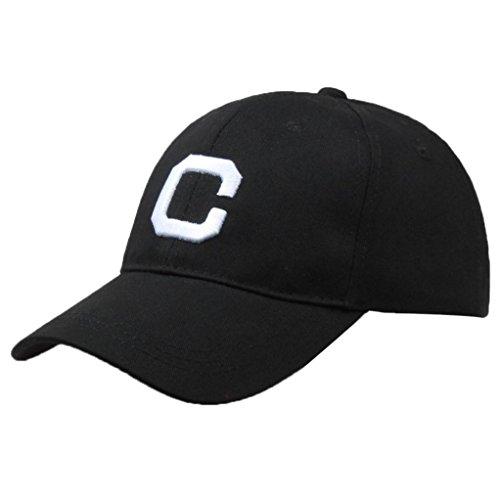 Limsea Men Women Letter Hats Hip-Hop Adjustable Baseball Cap (Womens Adjustable Hat Charlie)