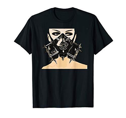 - Cyber goth clothing Biohazard Gas Mask Tshirt