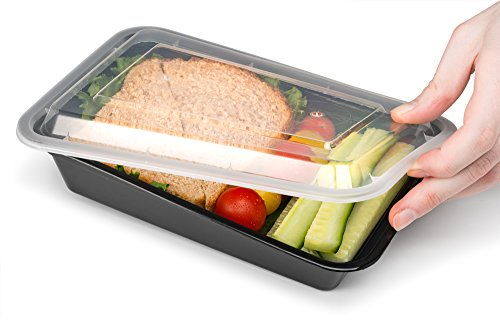 Ez Prepa [20 Pack] 28oz Single Compartment Meal Prep Containers with Lids - Food Storage Containers Bento Box Lunch Box Made of BPA Free Plastic, Stackable, Reusable, Microwavable, Freezer, and Dishw by Ez Prepa (Image #6)'