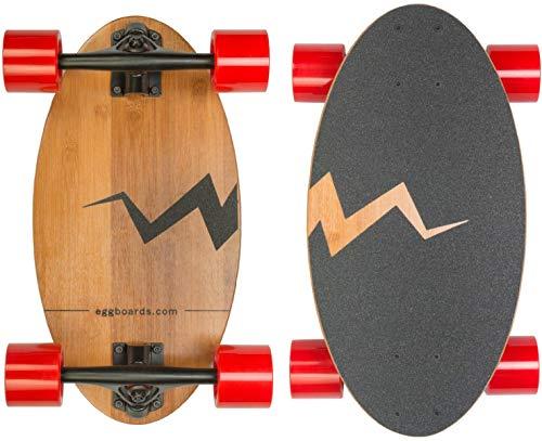 Eggboards Mini Longboard Cruiser Skateboard - Wide Small Bamboo Skateboards Ride Like Longboards. Complete Longboard for Adults and Kids. 19 inches Long Skate Board Deck in Wood. (Top Ten Best Skateboard Decks)