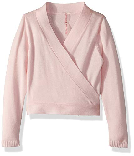 Ballet Long Sleeve Tee - Capezio Girls' Little Wrap Sweater, Pink, Small