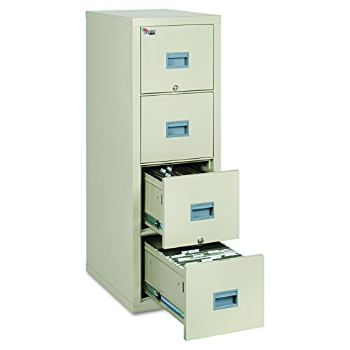 FireKing Patriot 4P1825-CPA One-Hour Fireproof Vertical Filing Cabinet, 4 Drawers, Deep Letter or Legal Size, 18