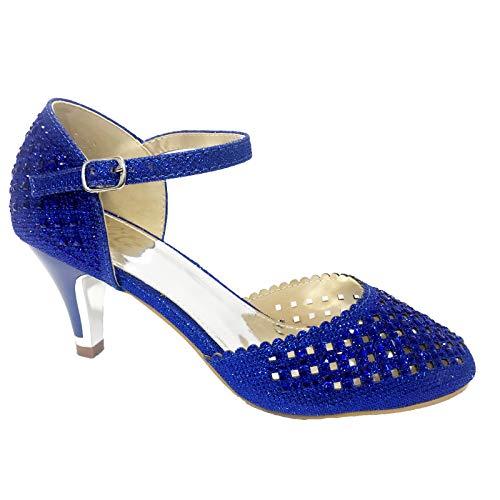 Bride Glitz Bleu Cheville Femme Marine qHdvH4