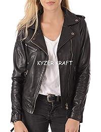Womens Leather Jackets Amazon Com