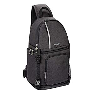 Best Epic Trends 41DIp--e8kL._SS300_ ARVOK Camera Shoulder Bag, Waterproof Camera Backpack with Rain Cover & Tripod Holder, Professional Camera Bag for Nikon…