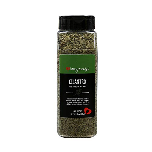 Loving Spoonful 4.5 oz Premium Cilantro Flakes | Food Service Bulk Size