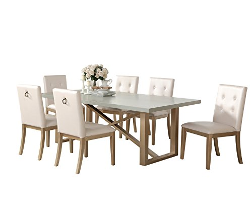 Abbyson Living RK 1943 7PC Callie Zen 7 Piece Dining Set
