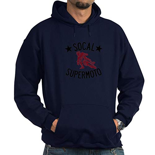 CafePress SoCal Supermoto Logo Pullover Hoodie, Classic & Comfortable Hooded Sweatshirt Navy (Jacket Supermoto)